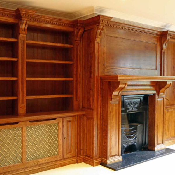 Bespoke oak library